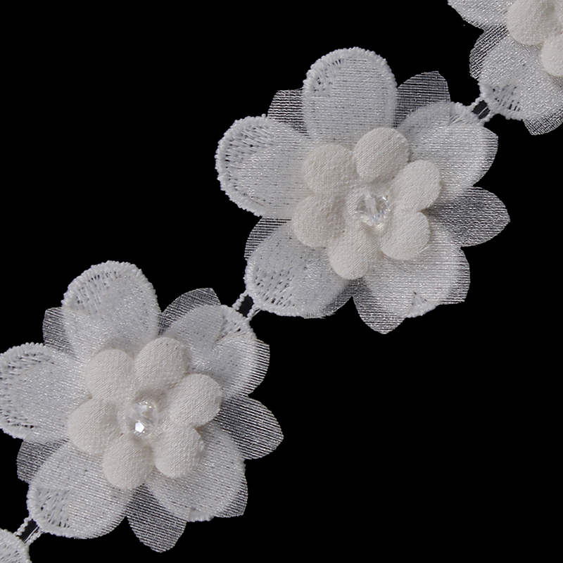 5yards 3d off white flower lace fabric embroidery applique lace 5yards 3d off white flower lace fabric embroidery applique lace ribbon trim lace motif venise for craft sewing accessories t2164 in lace from home garden mightylinksfo