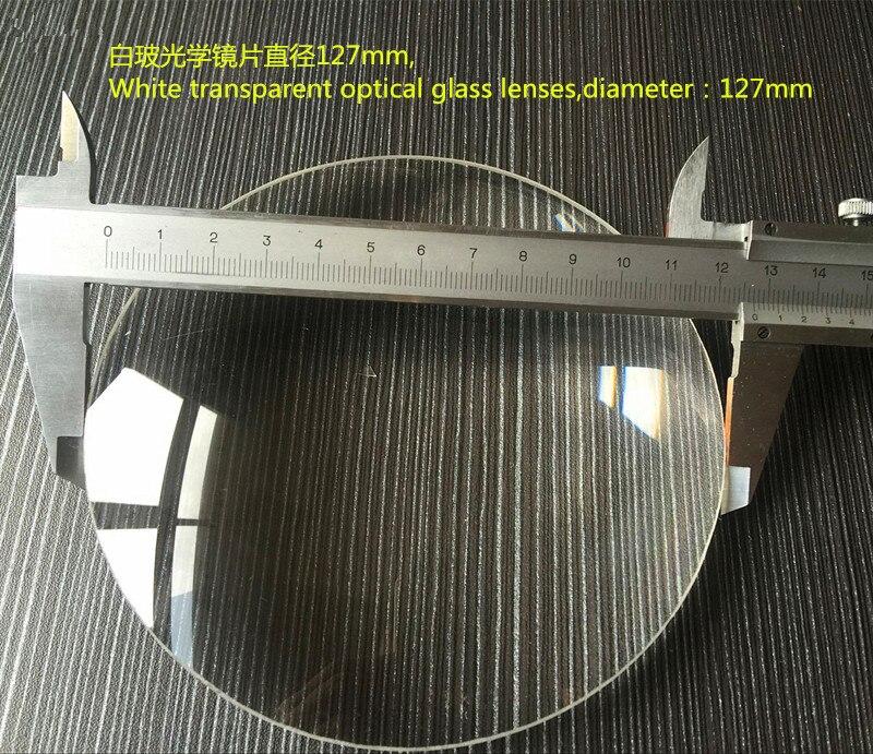 2 PCS 127mm Big Magnifying Glass Lens 5X Desktop Magnifier Replace Lens White Glass Double Convex Lens Free Shipping