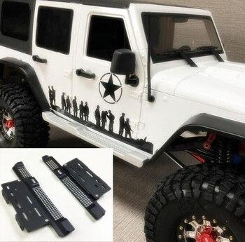 2PCs CNC Aluminum Alloy Side Step  Panel Foot Pedal For 5 Doors Jeep Wrangler Car Shell Axial scx10 scx10ll RC Cars Crawler