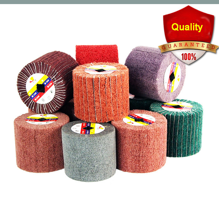 120*100*19mm wire drawing polishing Burnishing wheel for burnishing Machine/Polisher/Sander abrasive wheel free shipping drawing wheel 110 100mm drawing wool round 110mm drawing machine round tower wool polishing wheel