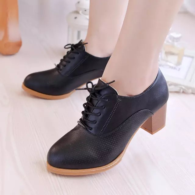 ФОТО British style Women Pumps Elegant New Design High Heels Shoes Pointed Toe Woman Party Shoes