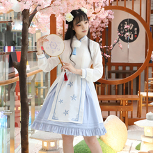Sweet Lolita Dress Jsk Cosplay Halloween Christmas Costume for Women Chinese Style Embroidery Loli Skirt Short Sleeve Plus Size все цены