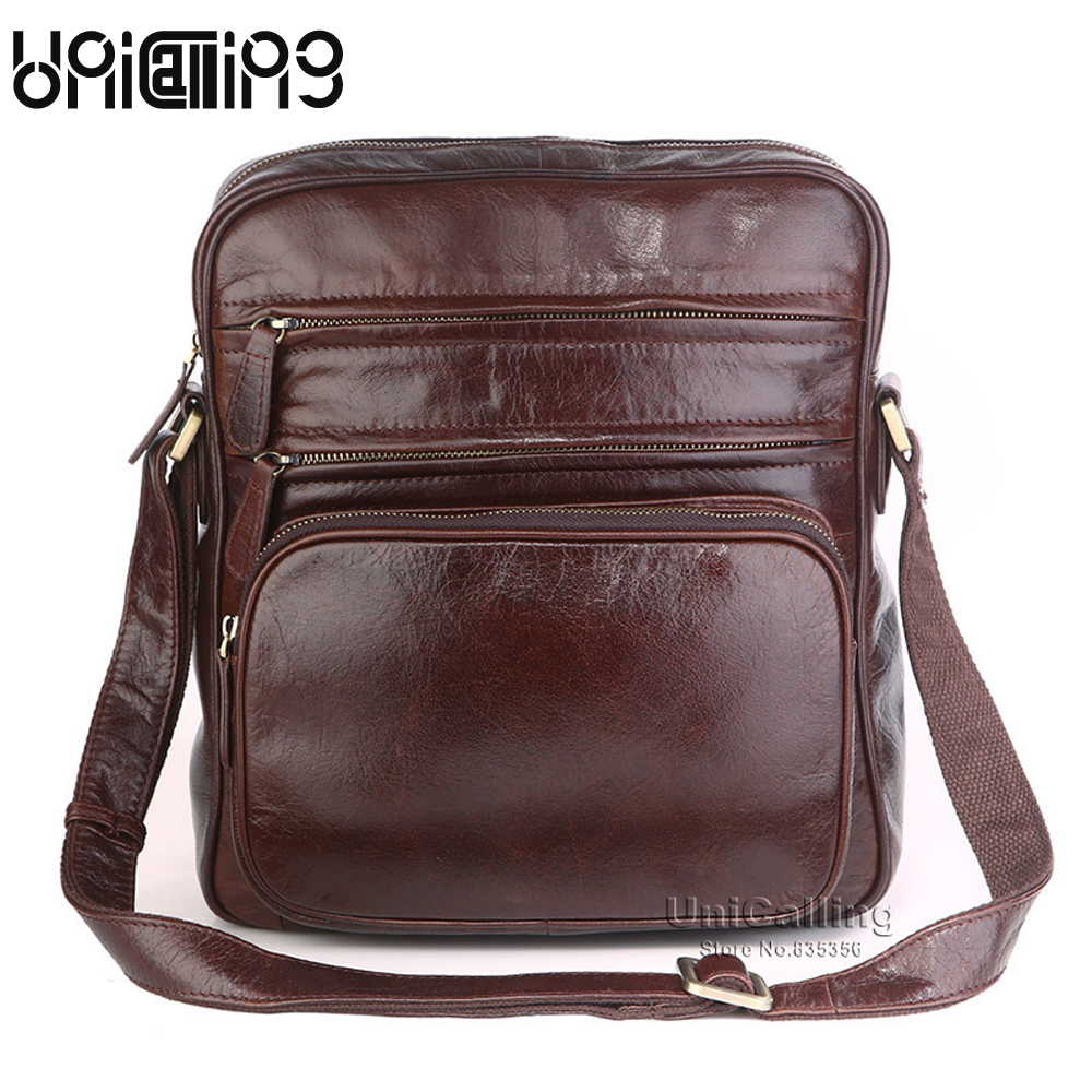 Здесь продается  Messenger bag men leather vintage male messenger bag genuine leather fashion brand high quality real leather men shoulder bag  Камера и Сумки