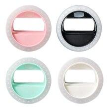 Зарядка через USB Новый Selfie кольцо света Портативный светодиодной вспышкой Камера телефон фотографии повышения фотографии для iphone Samsung