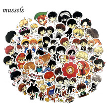 63Pcs Set Q Version Decal Stickers Hand Account Sticker For Luggage Laptop Notebook Refriger Car Styling For Gift cheap mussels none