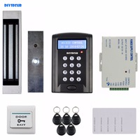 DIYSECUR LCD Passwort Keypad 125 KHz Rfid lesegerät mit 180 kg Elektrische Magnetverschluss Access Control System Security Kit Schwarz BC200|control system|password keypadkeypad rfid -