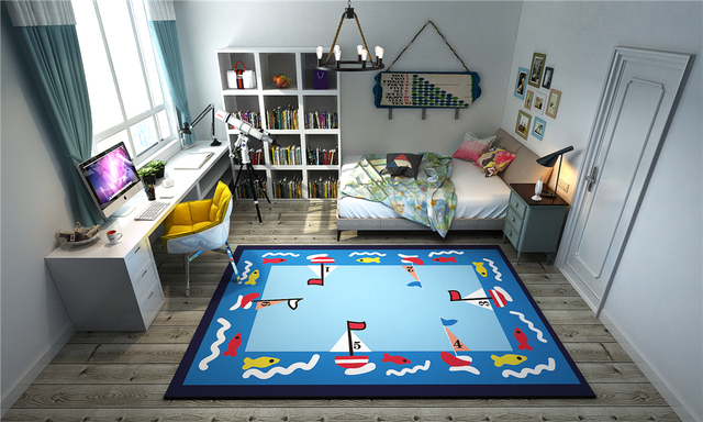 Cartoon Kids Game Rug Mats Bedside Area Rugs Flying Chess Mat