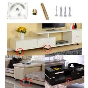 Image 2 - 8 Sets Furniture Leg Mounting Plates with Hanger Bolts Screws Great for Furniture Sofas Couches Seats