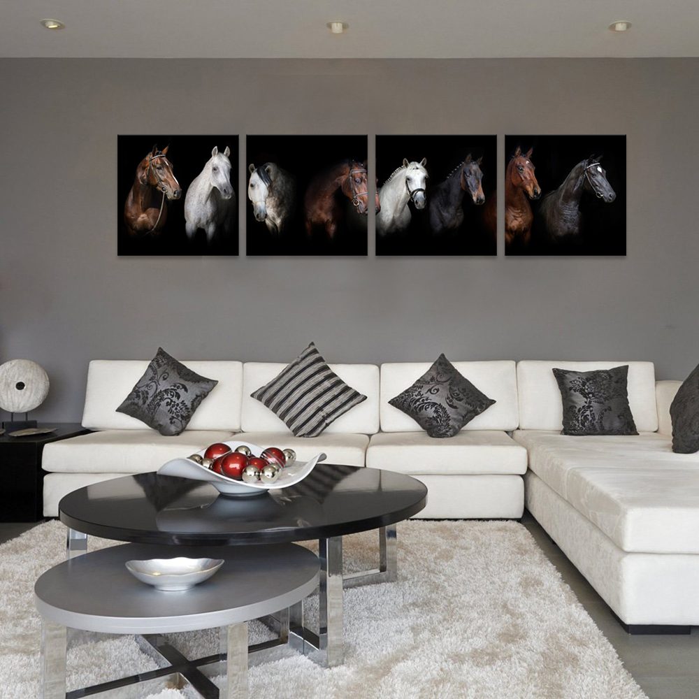 Moderne Home Decor Pferde Leinwand Tiere Foto Malerei HD Druckt ...