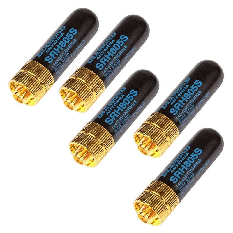 מכונות כביסה ומייבשים 5pcs / LOT Dual Band UHF + VHF SRH805S SMA נקבה אנטנה עבור Baofeng UV-5R BF-888s UV-82 UV-5RA UV-5re TK3107 2107 10W 144 / 430MHz # 8 (1)