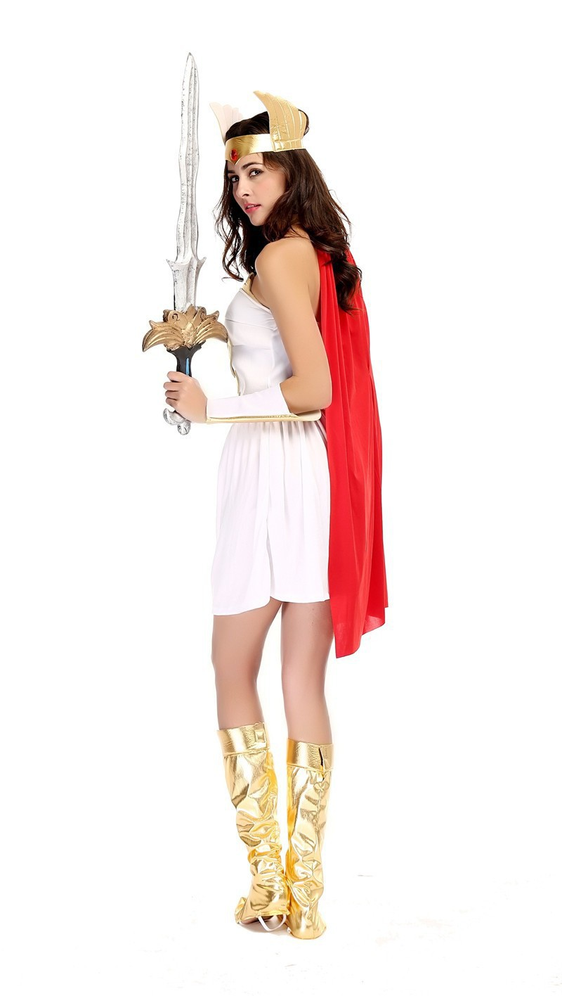 online shop white womens sexy greek goddess costume fancy dress greek goddess halloween costumes - Helen Of Troy Halloween Costume