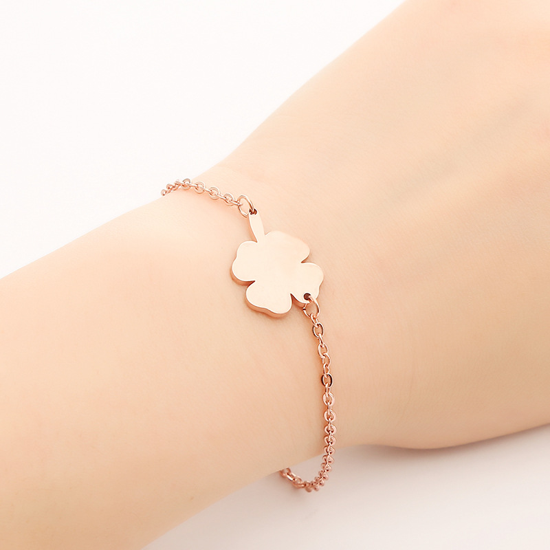 Peoniee bracelets for women stainless steel bracelets for women rose gold silver bracelet in Chain Link Bracelets from Jewelry Accessories