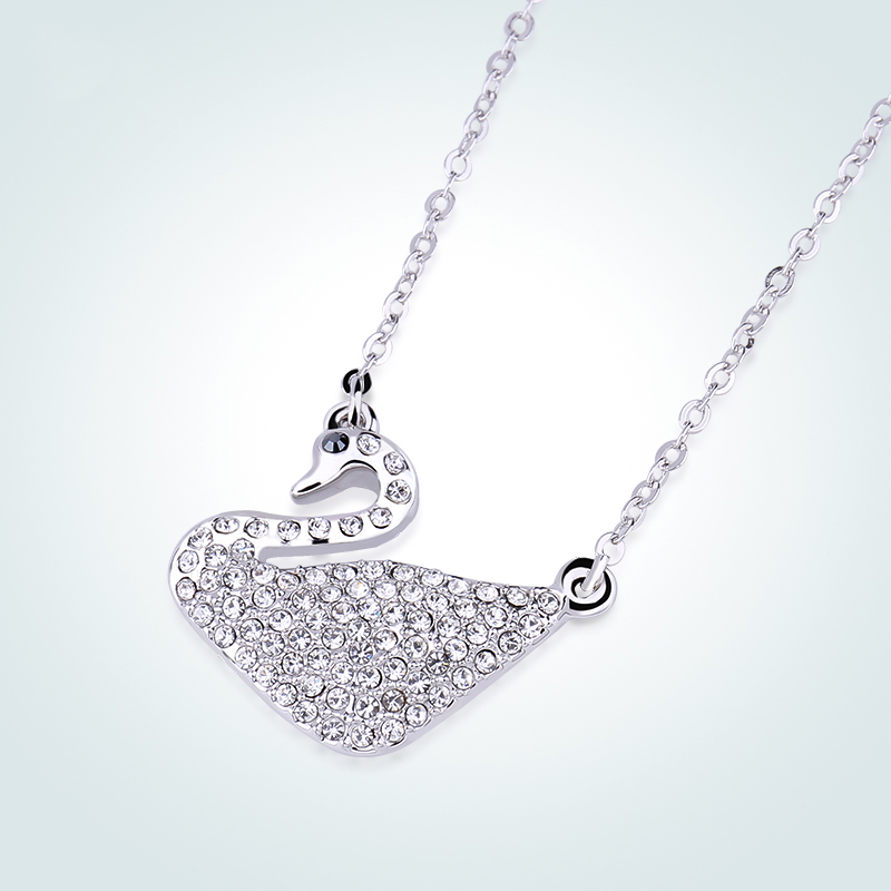 Swan Necklace ALP Warme Farben Crystal From SWAROVSKI Women Swan Pendant Necklaces Classic  White Charm Chain Jewelry Necklace Party Gifts for Lady-in Necklaces from  Jewelry ...