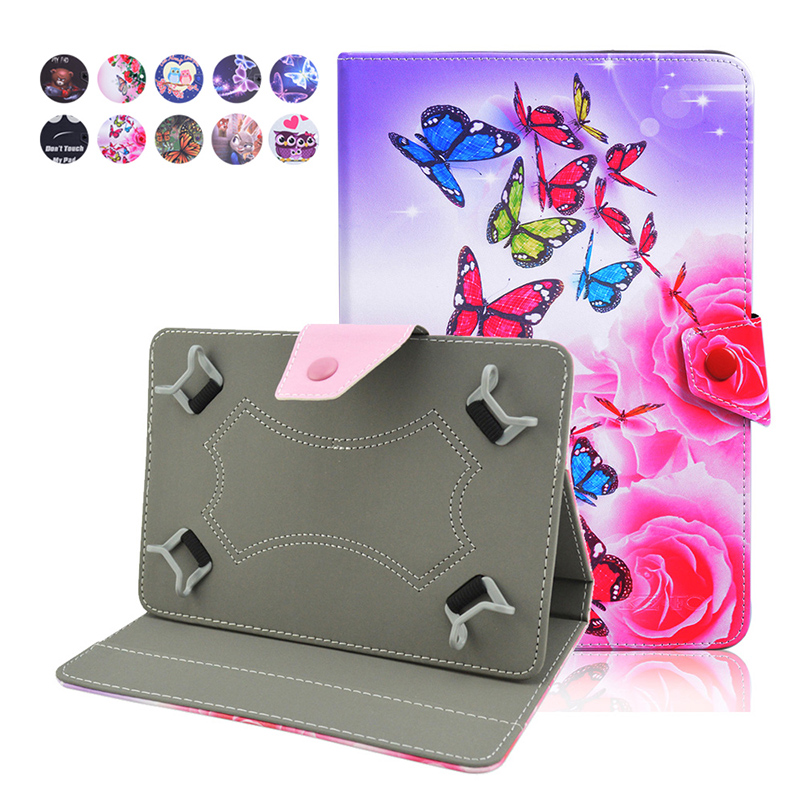 For Aoson M721 Universal 7 Inch Tablet Case For Kids Cute Leather Flip Stand Protective Cover Case For Teclast P70 / X70+3gifts