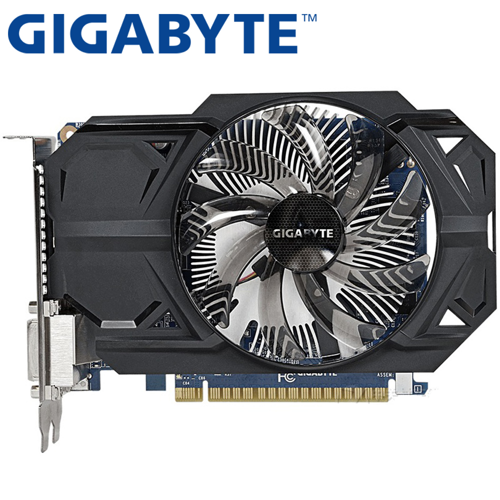 Used GIGABYTE GTX 750Ti 1GB Graphics Card 128Bit GDDR5 Video Cards for nVIDIA Geforce GTX 750