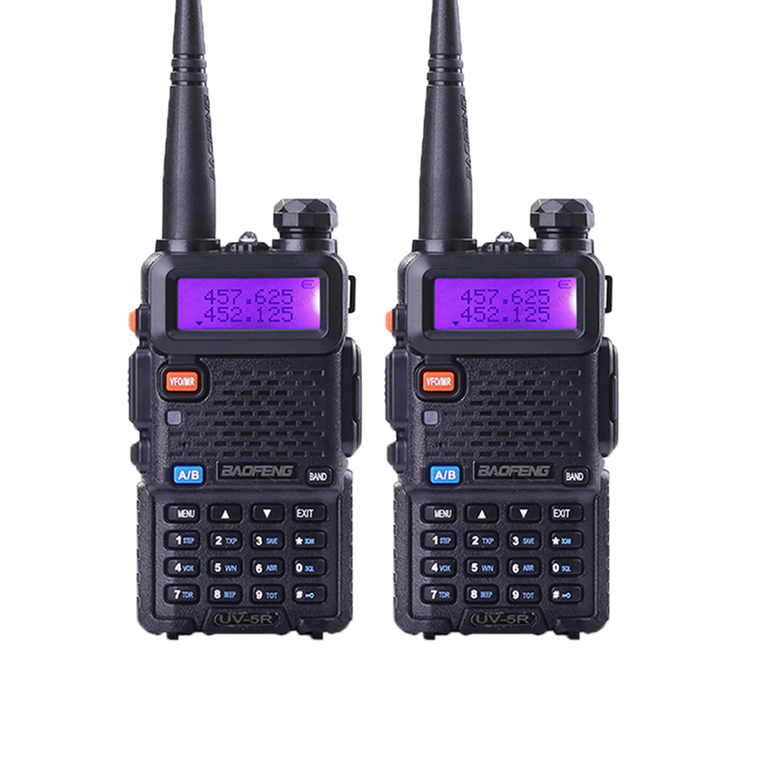 2Pcs BaoFeng UV 5R Walkie Talkie Radio Set Two Way Portable Authentic Baofeng Walkie Talkie Radio