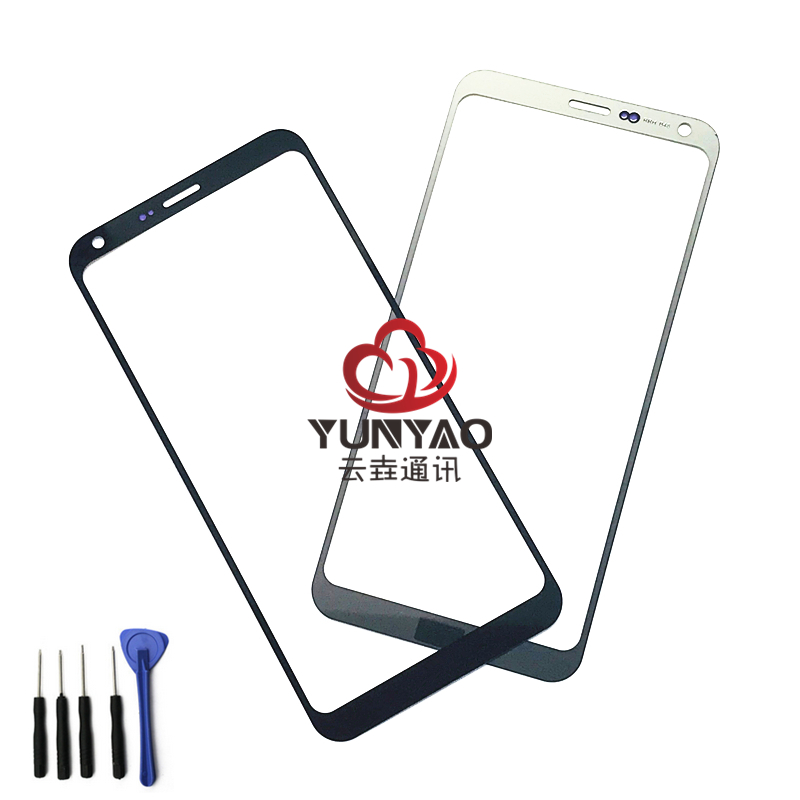 New Outer LCD Front Screen Glass Lens Cover Replacement Parts For LG Q6 M700 M700AM M700A X600K X600S X600L Touch Screen