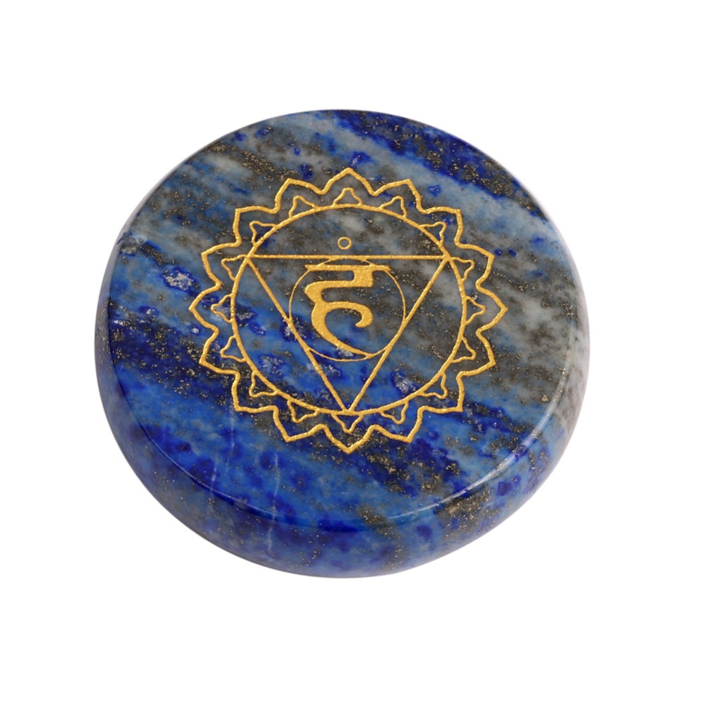 Free shipping blue lapis lazuli throat chakra stone round palm free shipping blue lapis lazuli throat chakra stone round palm stones reiki symbol stones healing crystal 2017 new arrival in stones from home garden on buycottarizona Images