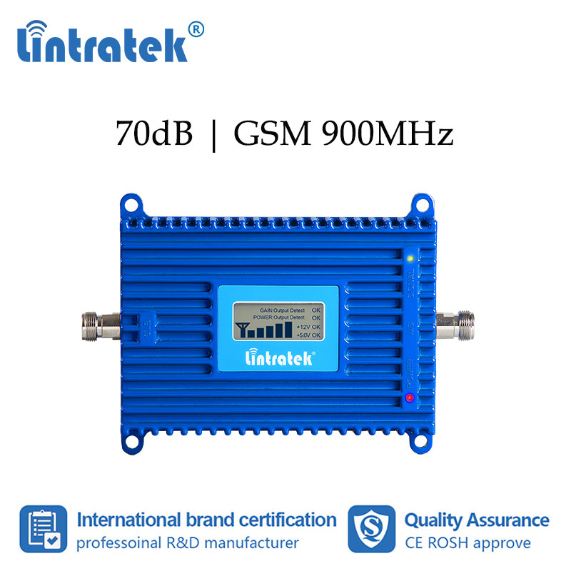 Lintratek GSM UMTS 900MHz Cellular Booster Mobile Phone Signal Repeater 2G 3G 900 Repeater Amplifier Voice