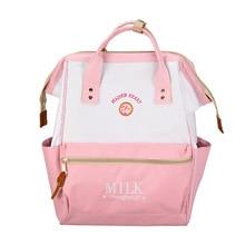 4PCS / LOT Japan Style Backpack Women Harajuku Cute Backpacks for Teenage Girls Kawaii Strawberry Laptop Back Pack School Bag
