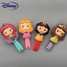 Disney Prinses Bevroren Hair Brush Brosse Cheveux Kinderen Milde Antistatische Borstel Krullend Haar Side Mermaid Manen Zorg Haar Kam(China)