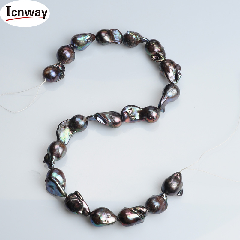 Natural AA black reborn keshi drop Pearl 13*18mm For Jewelry Making 15inches DIY necklace bracelet  FreeShipping WholesaleNatural AA black reborn keshi drop Pearl 13*18mm For Jewelry Making 15inches DIY necklace bracelet  FreeShipping Wholesale