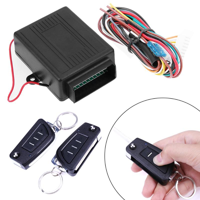 Universal Car Alarm Systems Auto Remote Central Kit Door Lock Keyless Entry System Central Locking with Remote Control Promotion цена