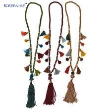 Винтажное ожерелье ручной работы с четкой подвеской длинное