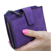 Women Purse Mini Grind Magic Bifold Leather Wallet Card Holder Clutch Women Handbag Portefeuille Femme Women