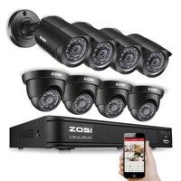 ZOSI 700TVL CCTV System 8CH H 264 D1 DVR 8x 1 3 CMOS IR CUT Waterproof