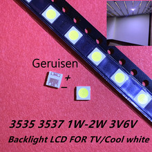 50-100pcs Original For LG LED LED 2W 6V 1W 3V 3535 Cool cold white LCD Backlight for TV cheap MUXINZILIGHT CN(Origin) BALL 3535 1W 2W 3V 6V 3535 led 3v 6v Diodes TV Backlight Televisao Cold White Surface Mount 1W 3V 3535 SMD LED