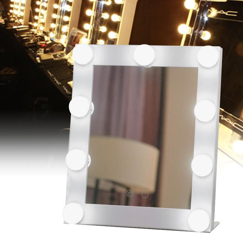 espejos decorativos envo de la nueva llegada caliente de alta calidad espejo de maquillaje iluminado led