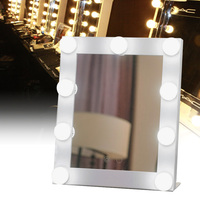 Specchi decorativi Trasporto Libero di Nuovo Arrivo di Alta Qualità Calda HA CONDOTTO Lampada Da Tavolo Specchio per Il Trucco Illuminato Dimmer Stage Tocco di Bellezza