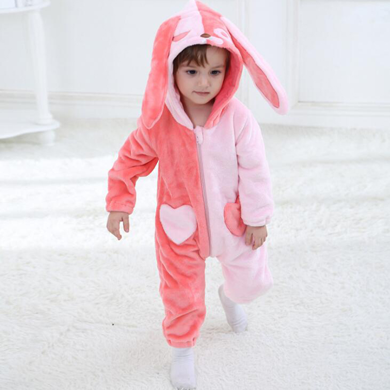 Baby Game Role Pajamas Clothing Newborn Infant Onesie Rabbit Costume Outfit Hooded OnePiece Jumpsuit Winter Sleepwear Boys Girls