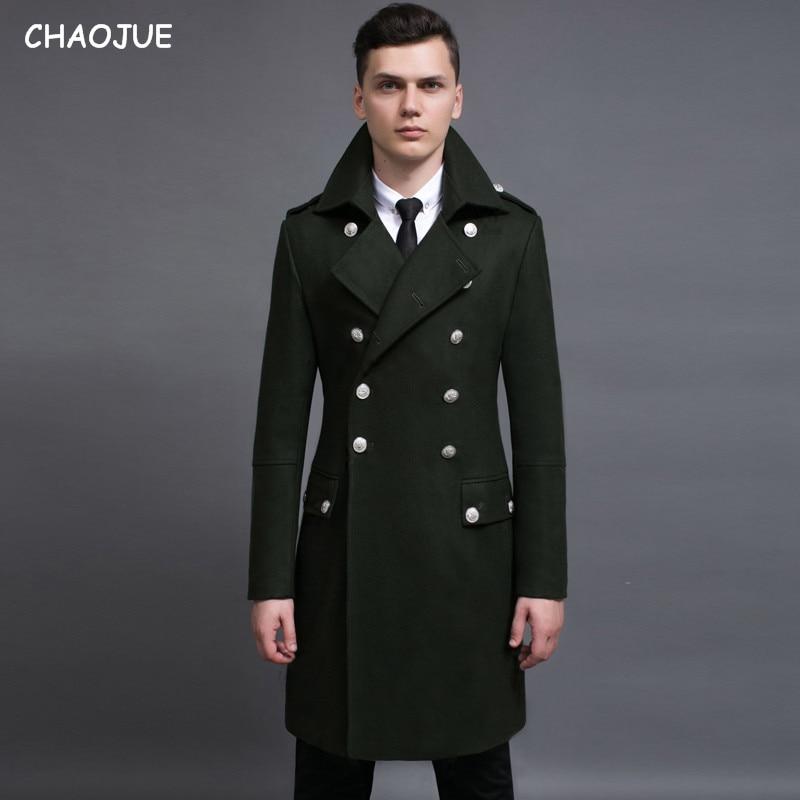 עיצוב גברים מעילים וז 'קטים S-6XL רחב מימדים גבוה וגדול מעיל ימאי גברים מעיל צמר ירוק צבא גרמניה