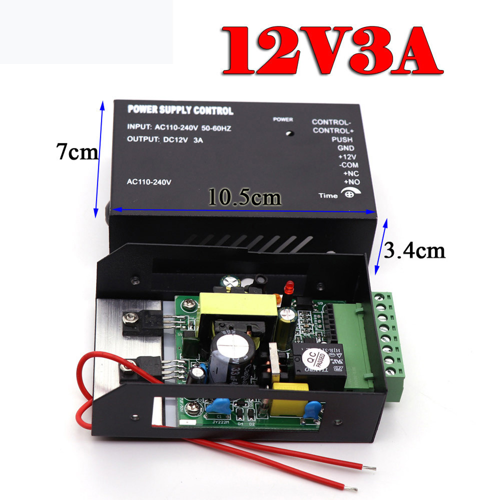 DC 12V 3A 5A Door Access Control System Switch Power Supply 110~260V for RFID Fingerprint Access Control Machine DeviceDC 12V 3A 5A Door Access Control System Switch Power Supply 110~260V for RFID Fingerprint Access Control Machine Device