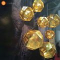 American Loft Vintage Plating Ball Pendant Lamps Personality Balcony Wrought Pendant Lights E27 Lamp Holder 110-240V