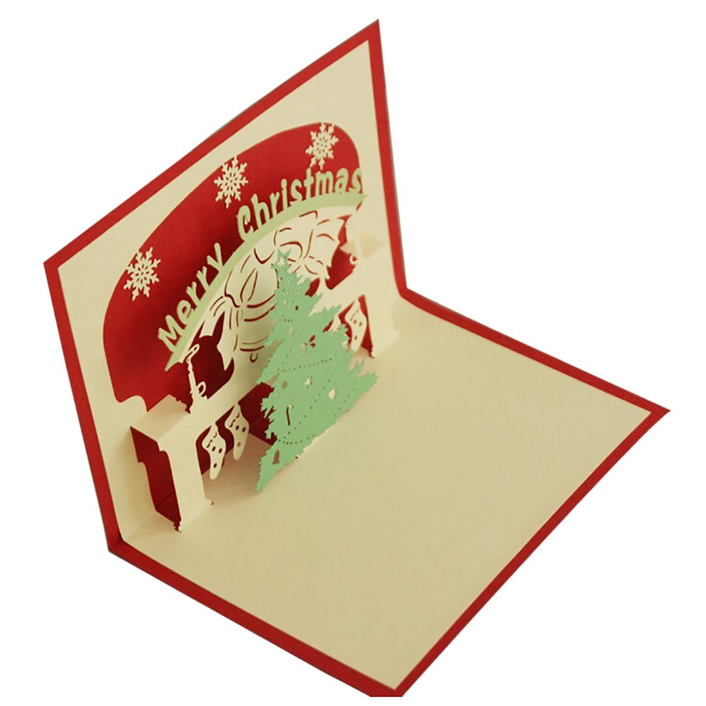 Perfect-3D Pop-up Christmas Tree Greeting Cards Christmas Greeting Holiday Cards Gifts for Xmas/New Year Christmas tree