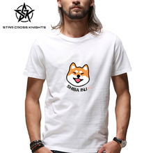 New Style Cotton Short  Sleeve Clothes Regular O-Neck Supplier Male Casual Cotton Akita Dog 2016 Top Selling Brand Clothes