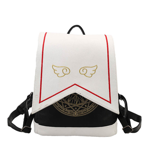 Image 1 - Women Backpack Hot Sale Fashion Embroidered wings High Quality female shoulder bag PU Leather Backpacks for Girls mochila