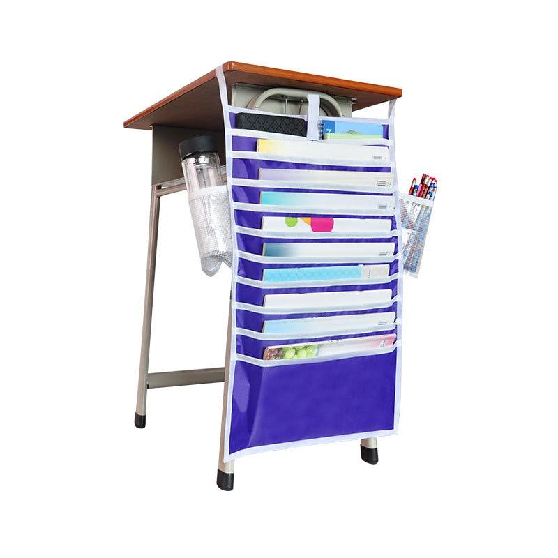 Многофункциональная подвесная сумка для книг, Студенческая сумка для хранения книг, регулируемая сумка для хранения книг, органайзер для книг - Цвет: Фиолетовый