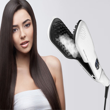 2016 Fast Hair Steam iron Straightener Tool  Straightening Hair Irons Automatic Straight Hair Brush With LCD Display Electric