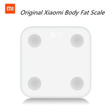 New Authentic Xiaomi Mi Sensible Physique Fats Scale With Mifit APP & Physique Composition Monitor With Hidden LED Show And Large Toes Pad