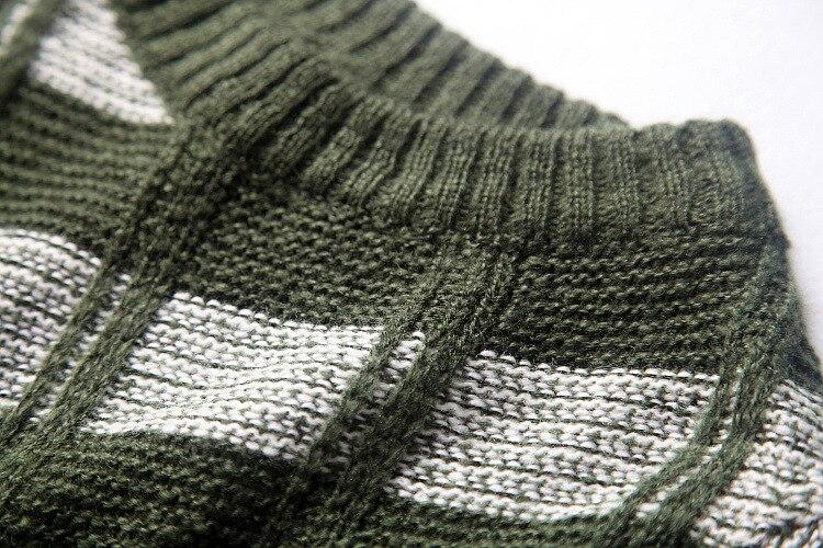Nieuwe aankomst vrouw outfit groen wit plaid trui zwart geel
