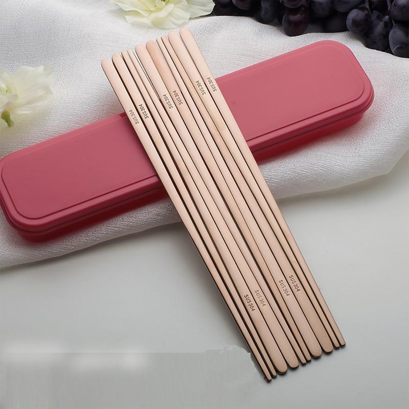 5pairs 304 nehrđajućeg čelika korejski štapići za jelo japanes - Kuhinja, blagovaonica i bar - Foto 2