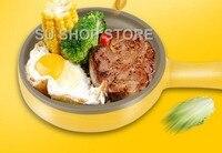 多機能家庭用ミニ卵オムレツパンケーキ電気ステーキフライパンノンスティックゆで卵ボイラー汽船シャットオフ