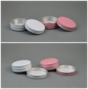 60g Aluminum Cosmetic Jar Container Pink / White Screw Thread 100pcs/lot 60ml Makeup Container Factory Wholesale wholesale