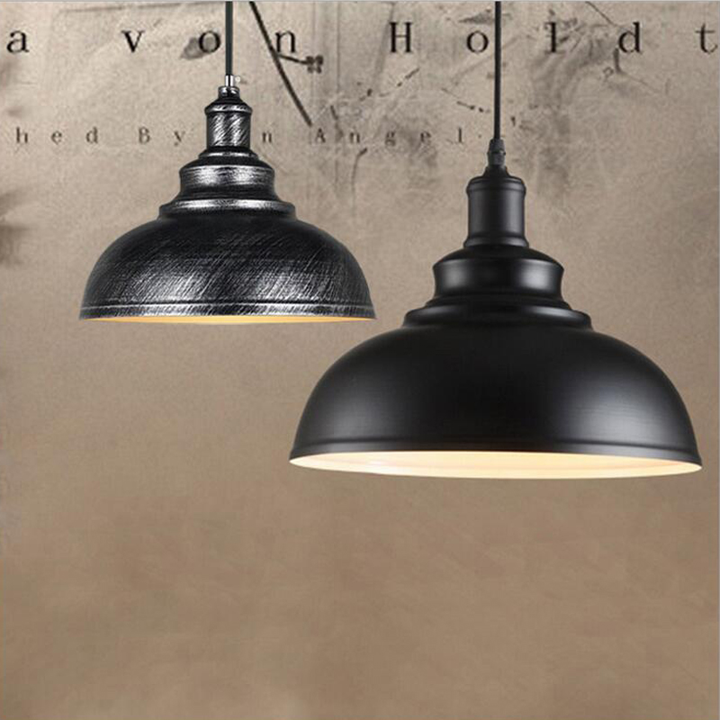 110V 220V Industrial Vintage Pendant Lights Metal Kitchen Cafe & Bar Loft Retro Pendant Lamps with E27 Edison Bulb White/Black edison inustrial loft vintage amber glass basin pendant lights lamp for cafe bar hall bedroom club dining room droplight decor