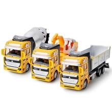 1 Pcs Liga Fundido Veículo de Construção Puxar Para Trás Do Carro Engenharia Caminhão Dump-carro Modelo Presente Toy Clássico Para menino