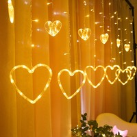 Cute Good quality Heart Shape LED Icicle String Lights led Christmas lights Fairy Lights outdoor Home For Wedding/Party/Curtain